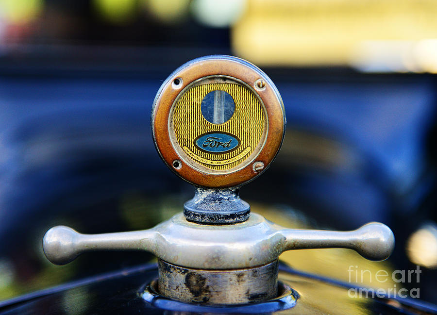 1919 Ford Model T Hood Ornament Original Photograph