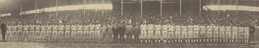 1924 Negro League World Series. Players Photograph