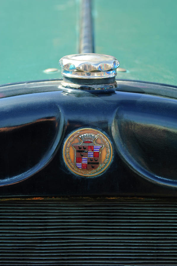 1925 Cadillac Hood Ornament And Emblem Photograph  - 1925 Cadillac Hood Ornament And Emblem Fine Art Print