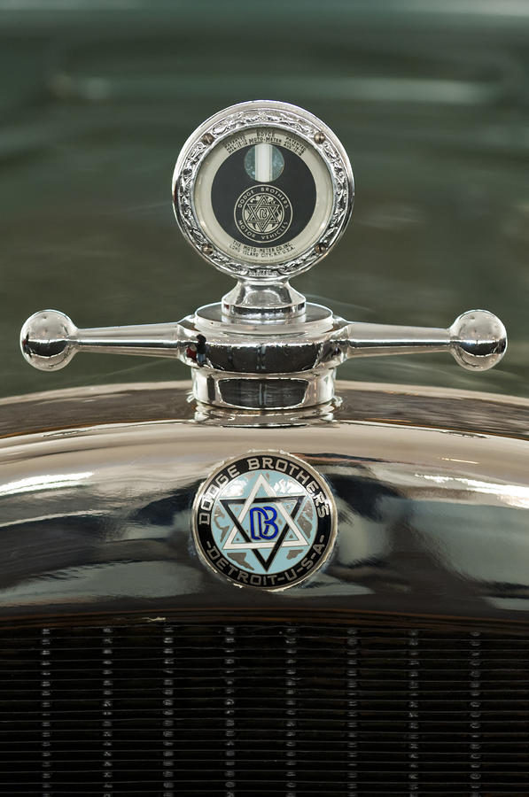 1926 Dodge Woody Wagon Hood Ornament Photograph  - 1926 Dodge Woody Wagon Hood Ornament Fine Art Print