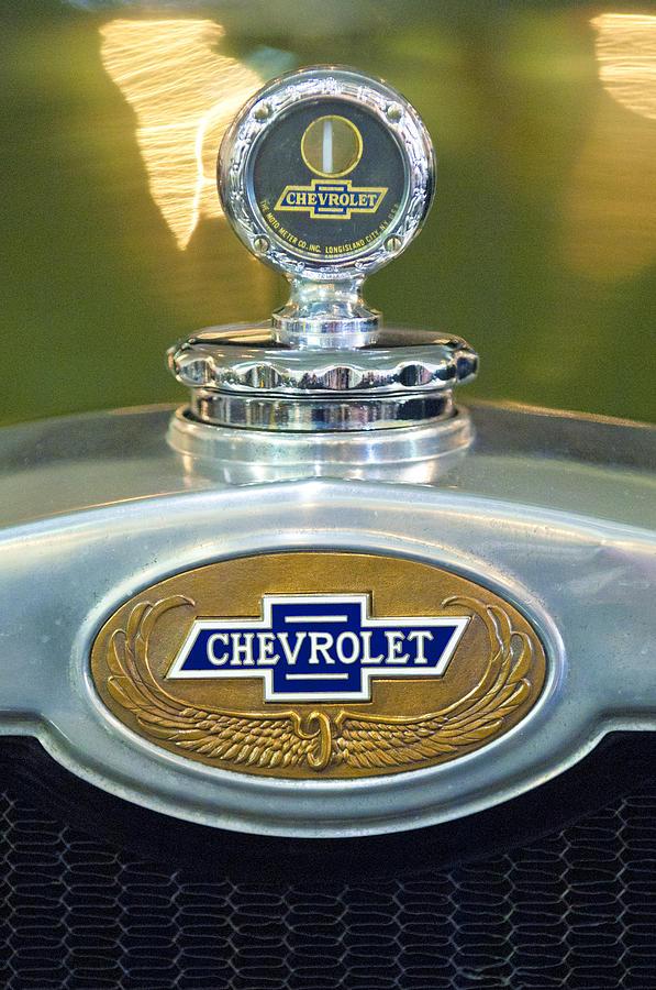 1928 chevrolet 2 door coupe hood ornament photograph by for 1928 chevrolet 2 door coupe