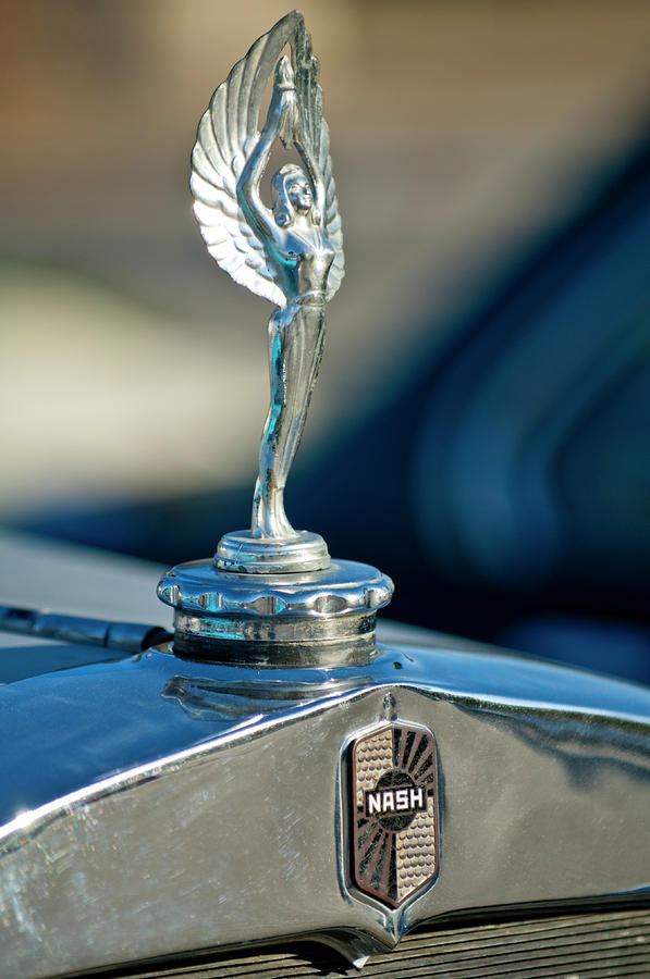 1928 Nash Coupe Hood Ornament Photograph  - 1928 Nash Coupe Hood Ornament Fine Art Print