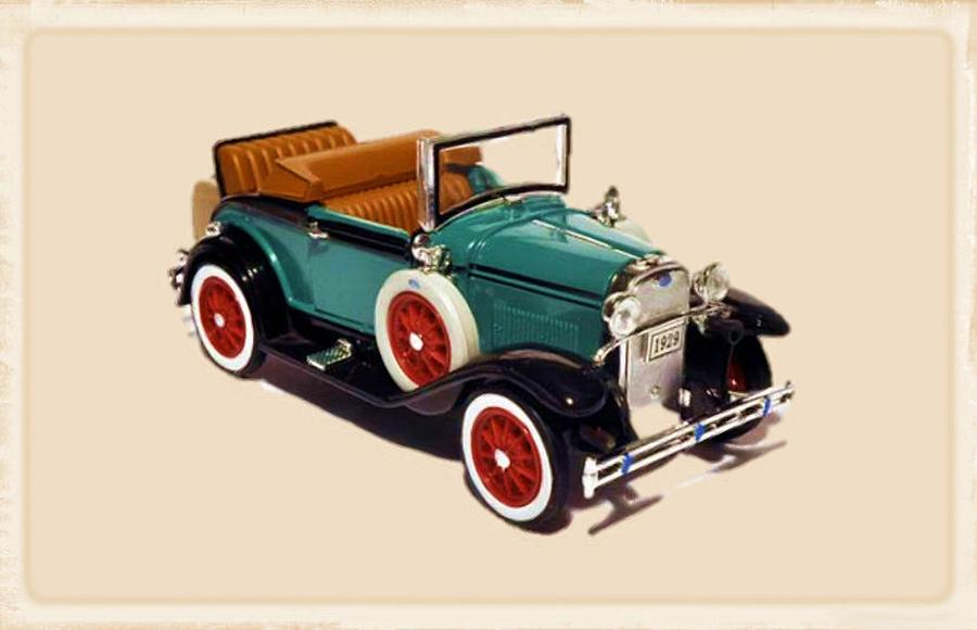 1929 Ford Cabriolet Digital Art