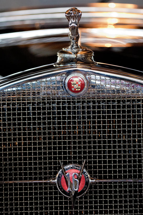 1930 Cadillac Roadster Hood Ornament 3 Photograph  - 1930 Cadillac Roadster Hood Ornament 3 Fine Art Print