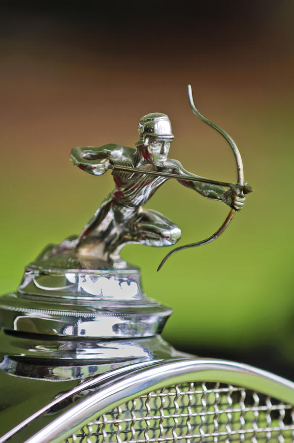 1930 Pierce-arrow Model A Convertible Hood Ornament Photograph