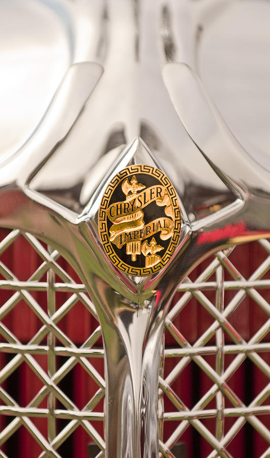 1931 Chrysler Cg Imperial Lebaron Roadster Grille Emblem Photograph