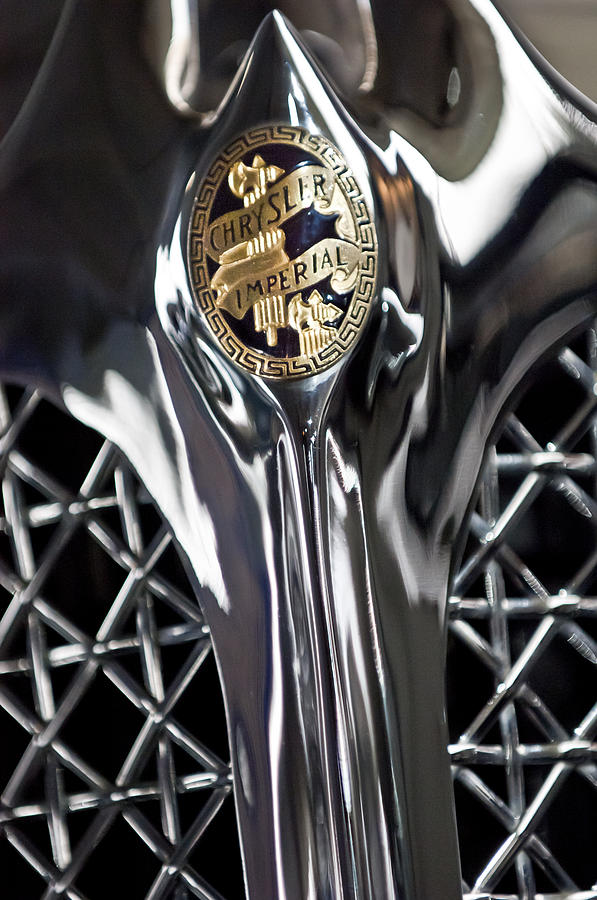 1931 Chrysler Cg Imperial Roadster Photograph - 1931 Chrysler Cg Imperial Roadster Hood Emblem by Jill Reger