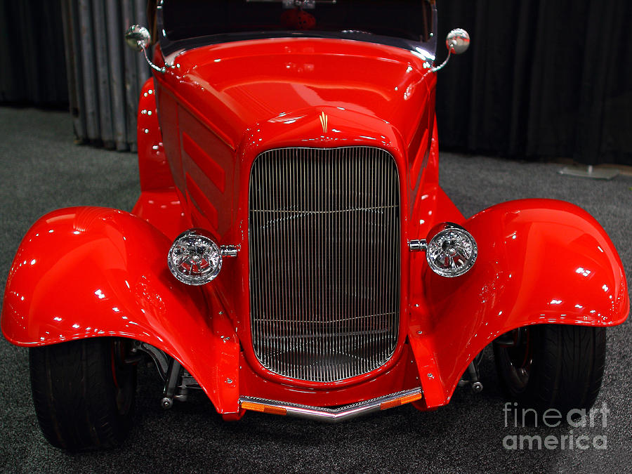 1932 Ford Roadster . Red . 7d9286 Photograph  - 1932 Ford Roadster . Red . 7d9286 Fine Art Print