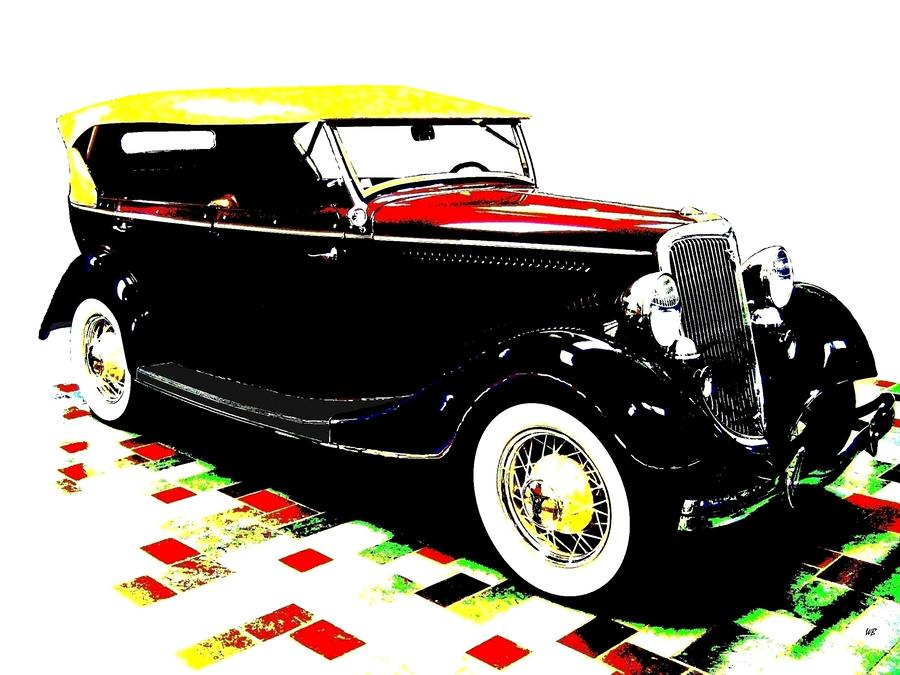 1934 Ford Phaeton V8  Digital Art  - 1934 Ford Phaeton V8  Fine Art Print