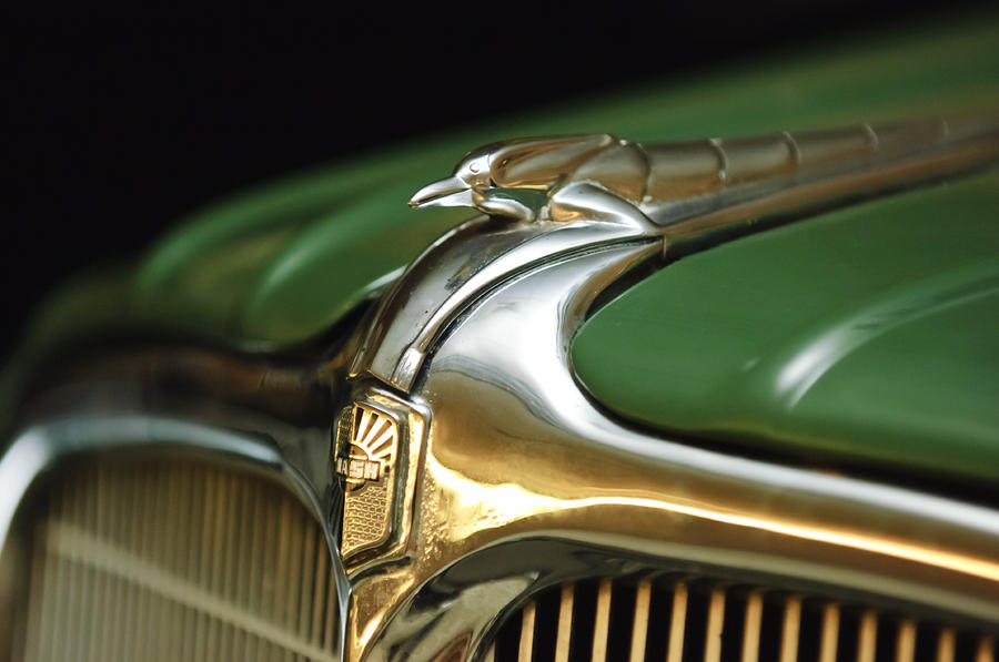 1934 Nash Ambassador 8 Hood Ornament Photograph  - 1934 Nash Ambassador 8 Hood Ornament Fine Art Print