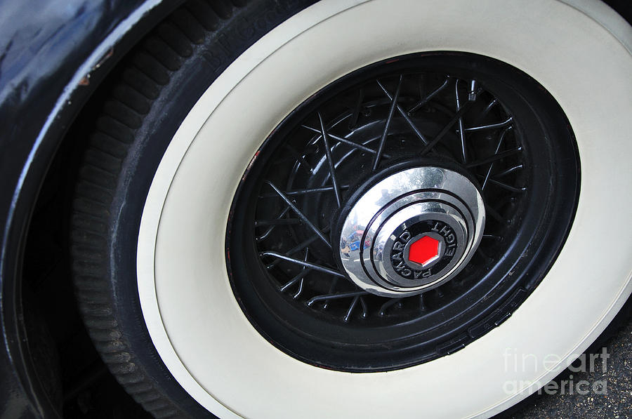 1934 Packard Eight - Rear Wheel Photograph  - 1934 Packard Eight - Rear Wheel Fine Art Print