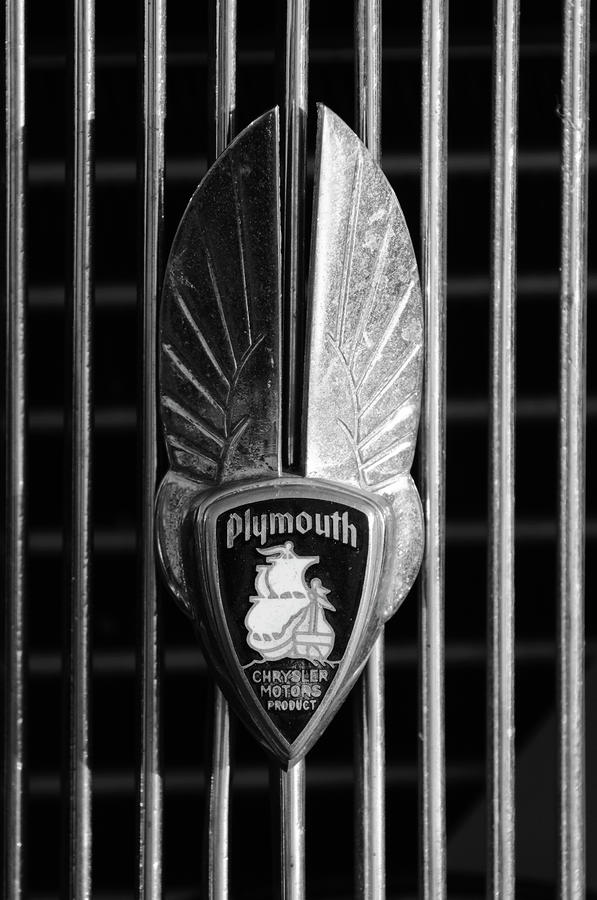 1934 Plymouth Emblem 2 Photograph