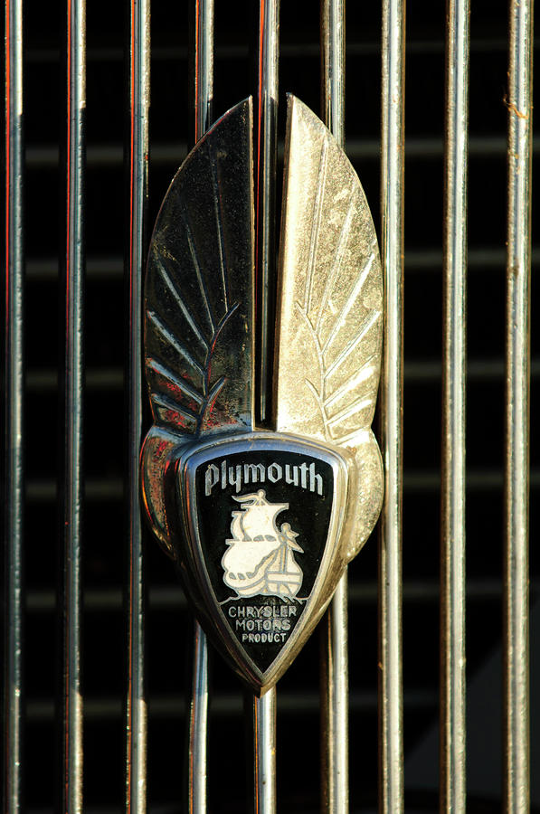 1934 Plymouth Emblem Photograph