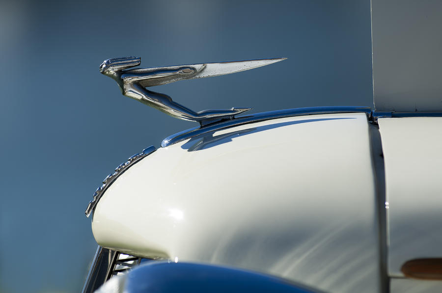 1935 Auburn Hood Ornament 3 Photograph  - 1935 Auburn Hood Ornament 3 Fine Art Print