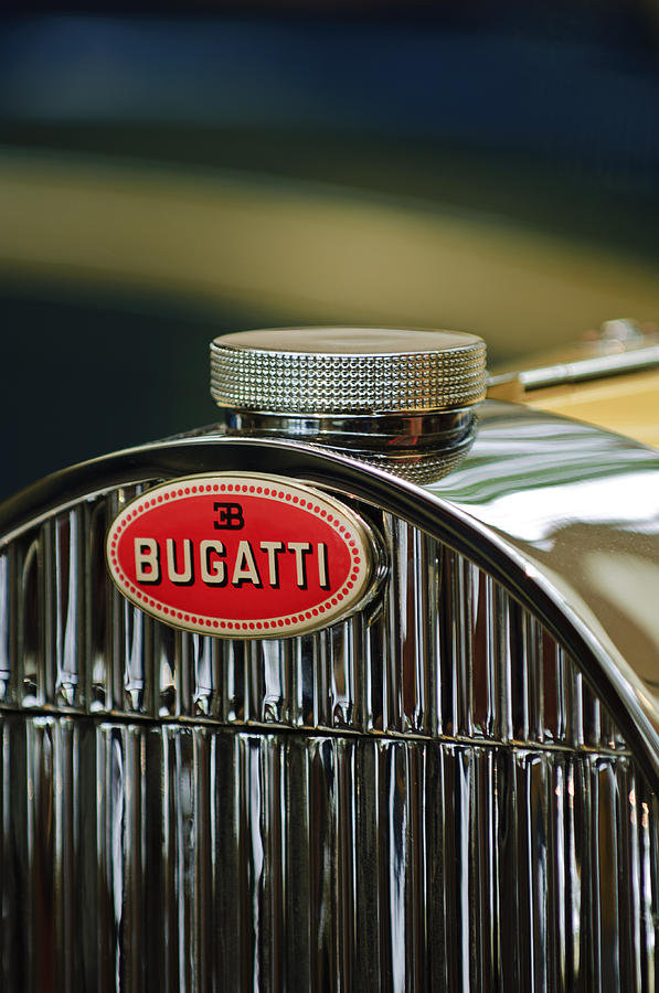 1935 Bugatti Type 57 Grand Raid Roadster Emblem Photograph  - 1935 Bugatti Type 57 Grand Raid Roadster Emblem Fine Art Print