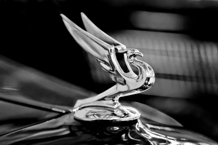 1935 Chevrolet Hood Ornament 3 Photograph  - 1935 Chevrolet Hood Ornament 3 Fine Art Print