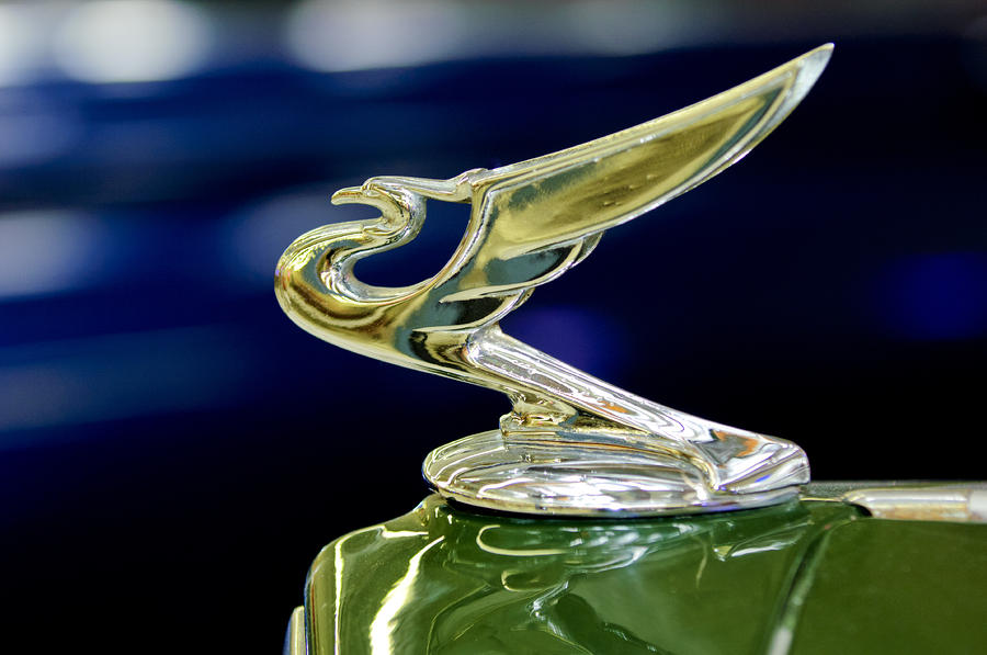 1935 Chevrolet Hood Ornament Photograph