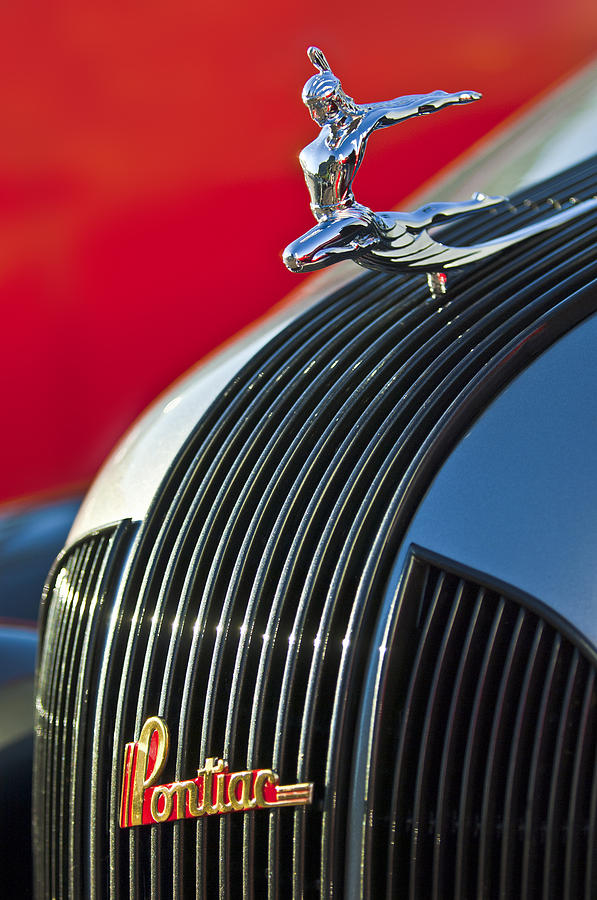 1935 Pontiac Sedan Hood Ornament Photograph  - 1935 Pontiac Sedan Hood Ornament Fine Art Print