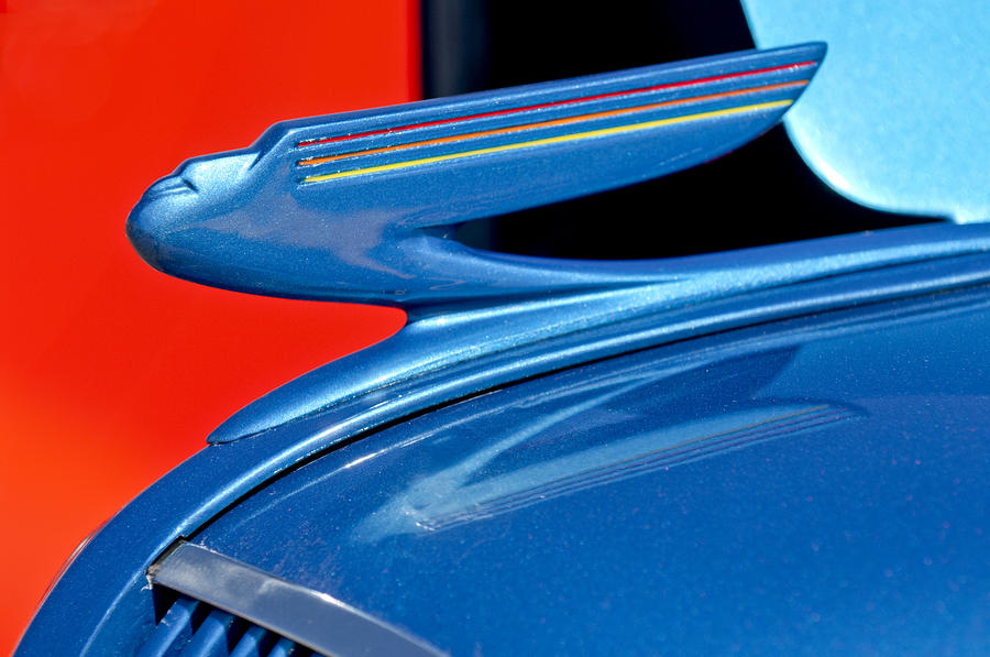 1936 Chevrolet Hood Ornament 2 Photograph  - 1936 Chevrolet Hood Ornament 2 Fine Art Print