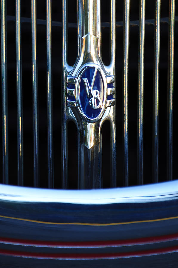 1936 Ford Phaeton V8 Grille Emblem 2 Photograph