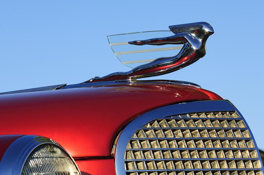 1937 Cadillac V8 Hood Ornament Photograph