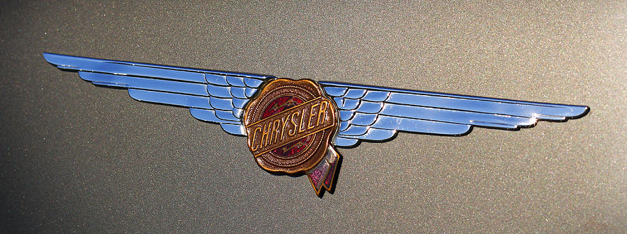 1937 Chrysler Airflow Emblem Photograph  - 1937 Chrysler Airflow Emblem Fine Art Print