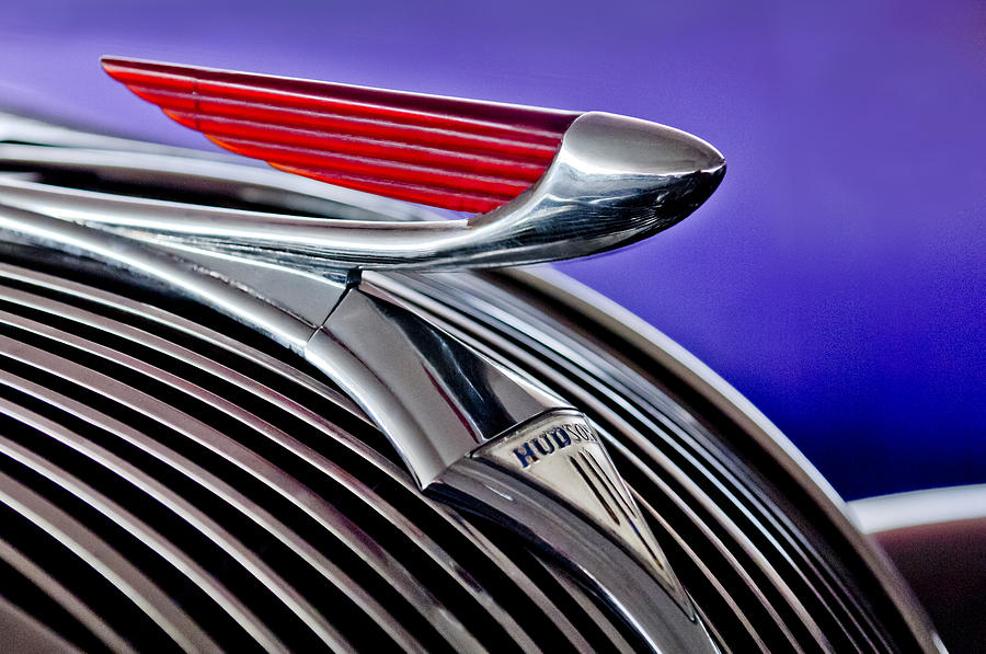 1937 Hudson Terraplane Sedan Hood Ornament 2 Photograph  - 1937 Hudson Terraplane Sedan Hood Ornament 2 Fine Art Print