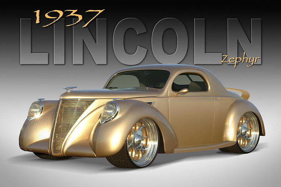 1937 Lincoln Zephyr Photograph  - 1937 Lincoln Zephyr Fine Art Print