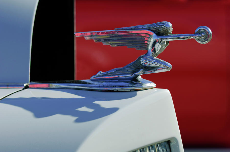1937 Packard 2-door Touring Hood Ornament Photograph  - 1937 Packard 2-door Touring Hood Ornament Fine Art Print