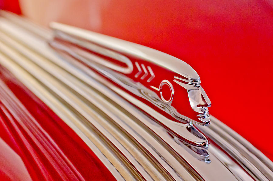 1937 Pontiac Chief Custom Hood Ornament Photograph  - 1937 Pontiac Chief Custom Hood Ornament Fine Art Print