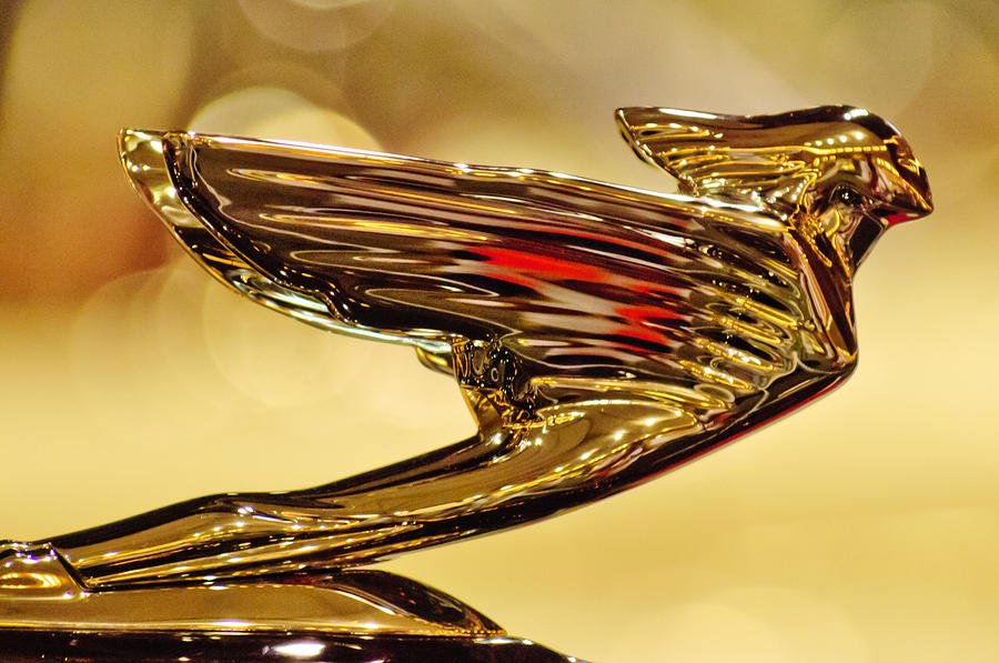 1938 Cadillac V-16 Sedan Hood Ornament 2 Photograph  - 1938 Cadillac V-16 Sedan Hood Ornament 2 Fine Art Print