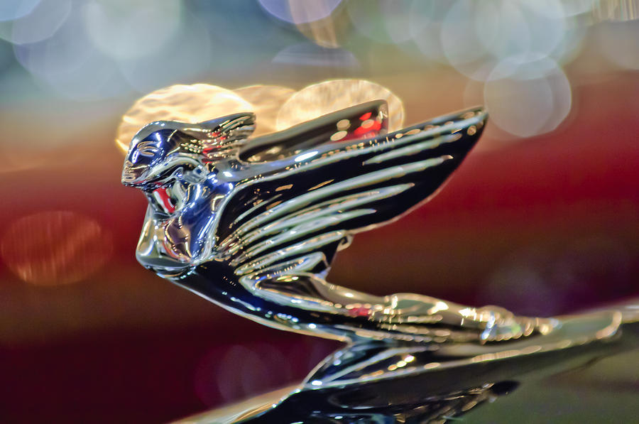 1938 Cadillac V-16 Sedan Hood Ornament Photograph