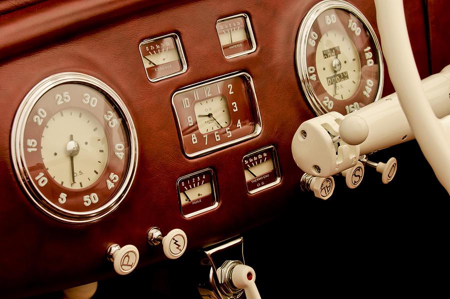 1938 Delage D6-70 Letourneur Et Marchand Cabriolet Dashboard Instruments Photograph