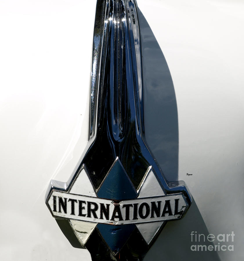 1939 International Hood Ornament  Photograph  - 1939 International Hood Ornament  Fine Art Print