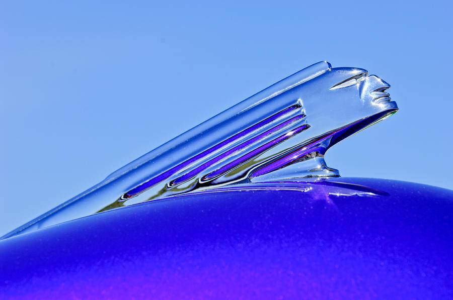 1939 Pontiac Coupe Hood Ornament 2 Photograph  - 1939 Pontiac Coupe Hood Ornament 2 Fine Art Print