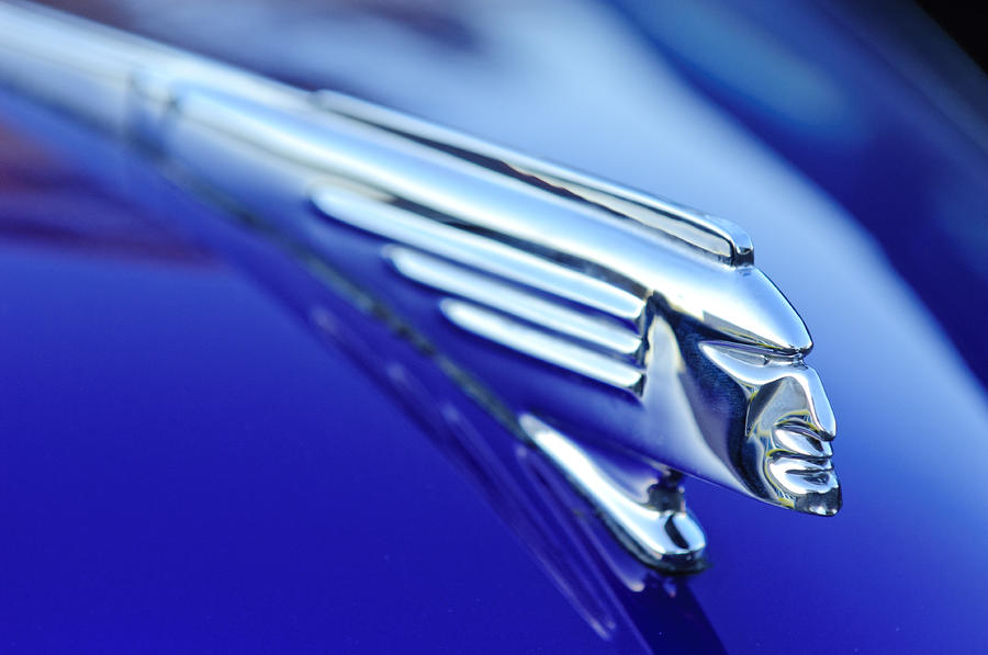 1939 Pontiac Coupe Hood Ornament 4 Photograph  - 1939 Pontiac Coupe Hood Ornament 4 Fine Art Print