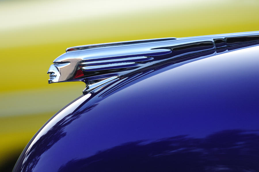 1939 Pontiac Coupe Hood Ornament Photograph  - 1939 Pontiac Coupe Hood Ornament Fine Art Print