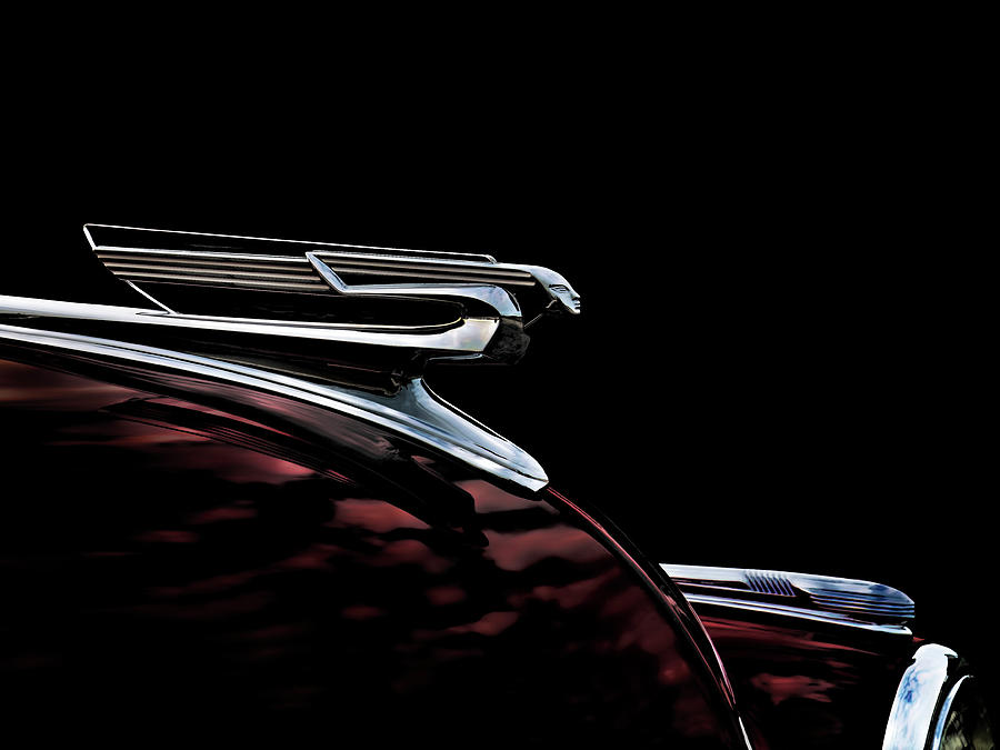 1940 Chevy Hood Ornament Digital Art