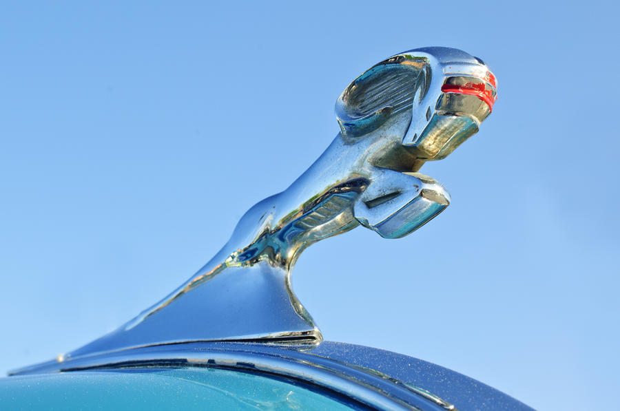 1940 Dodge Business Coupe Hood Ornament Photograph  - 1940 Dodge Business Coupe Hood Ornament Fine Art Print