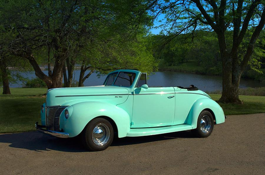 1940 Ford Convertible Photograph By Tim Mccullough