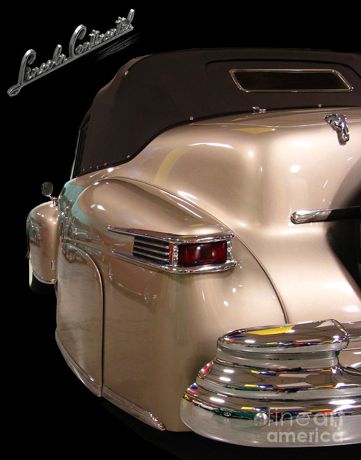 1941 Lincoln Continental  Photograph  - 1941 Lincoln Continental  Fine Art Print