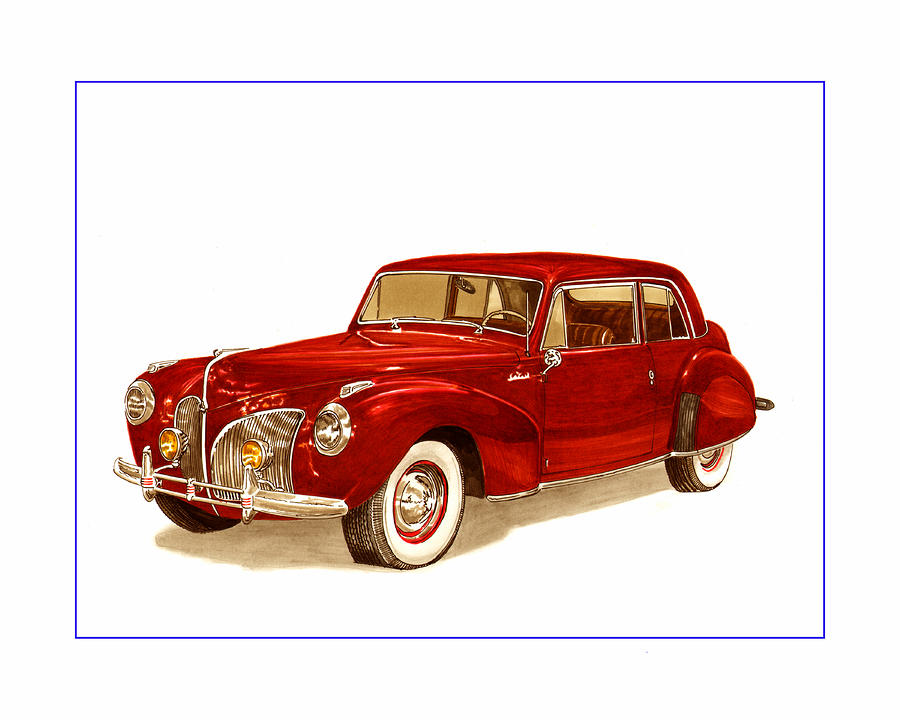 1941 Mk I Lincoln Continental Painting  - 1941 Mk I Lincoln Continental Fine Art Print