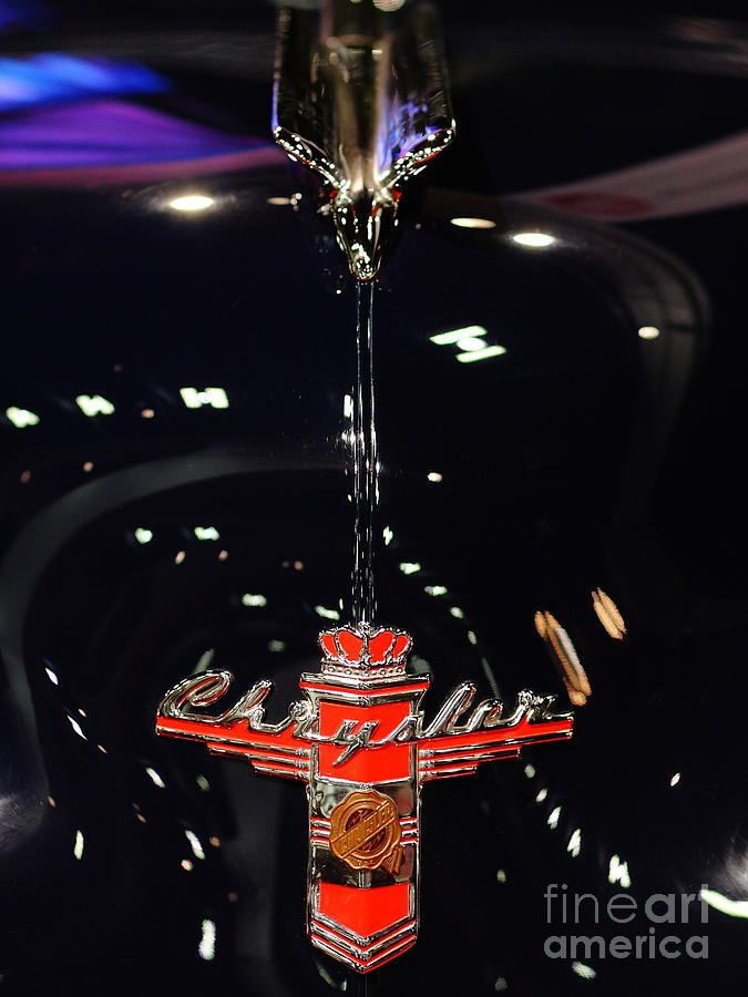 1946 Chrysler Town And Country Convertible . Hood Ornament And Badge Photograph