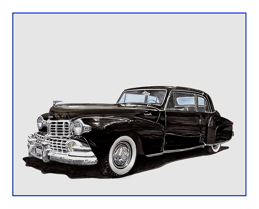 1946 Lincoln Continental Mk 1 Sculpture  - 1946 Lincoln Continental Mk 1 Fine Art Print