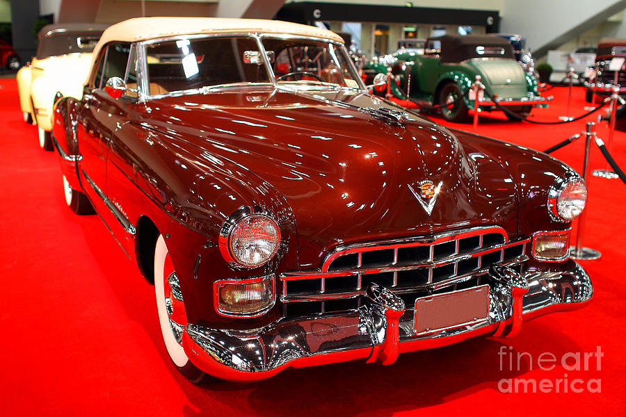1947 Red Cadillac Convertible . 7d9220 Photograph