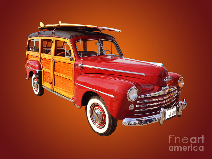 Car Photograph - 1947 Woody by Jim Carrell