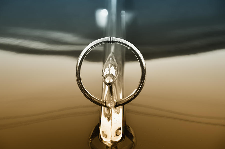 1948 Buick Eight Super Hood Ornament Photograph  - 1948 Buick Eight Super Hood Ornament Fine Art Print