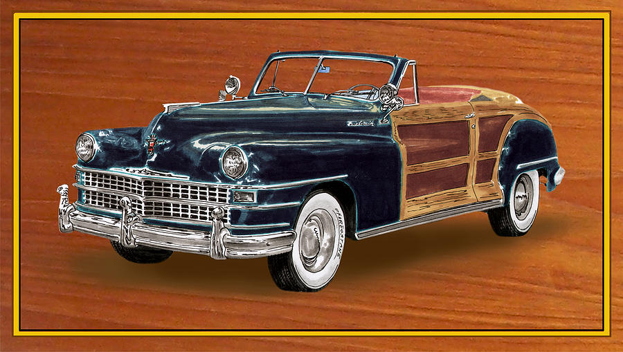 1948 Chrysler Town And Country Painting  - 1948 Chrysler Town And Country Fine Art Print
