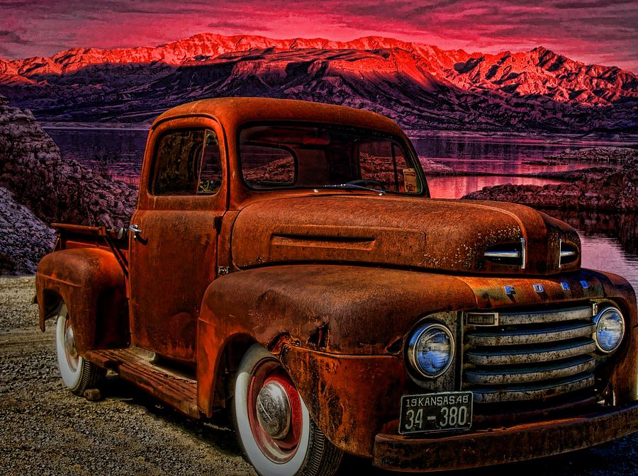 1948 Ford Pickup Truck Photograph  - 1948 Ford Pickup Truck Fine Art Print