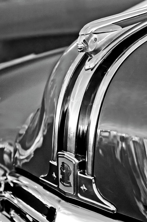1948 Pontiac Chief Hood Ornament 4 Photograph  - 1948 Pontiac Chief Hood Ornament 4 Fine Art Print